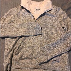 Hollister half zip sweat shirt